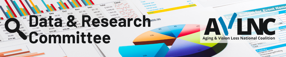 Data and research committee banner with graphs background
